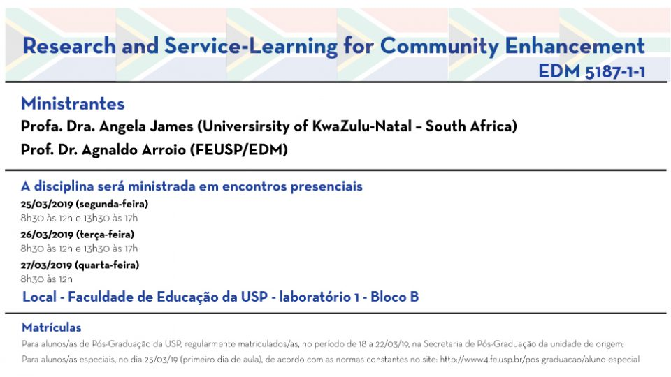 Research and Service-Learning for Community Enhancement EDM 5187-1-1
