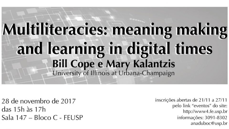Multiliteracies: meaning making and learning in digital times