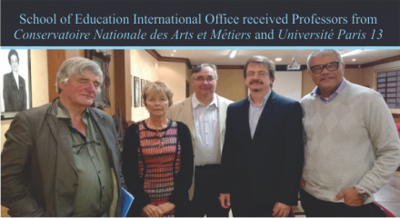 School of Education International Office received Professors from Conservatoire Nationale des Arts et Métiers e Université Paris 13