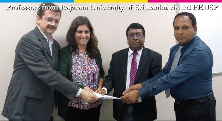 Professors from Rajarata University of Sri Lanka visited FEUSP