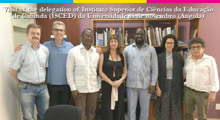 Visit of delegation of  Higher Institute of Educational Sciences of Cabinda (ISCED) of University November 11 (Angola)