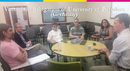 Visit of delegation of University of Potsdam (Germany)