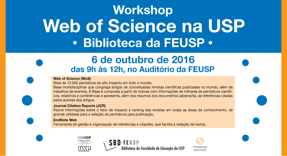 "Workshop ""Web of Science na USP"""